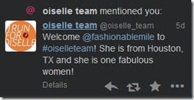 oiselle team tweet
