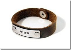 warrior bracelet believe