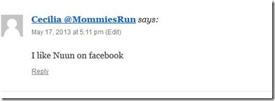 5.20.2013 Nuun winner comment
